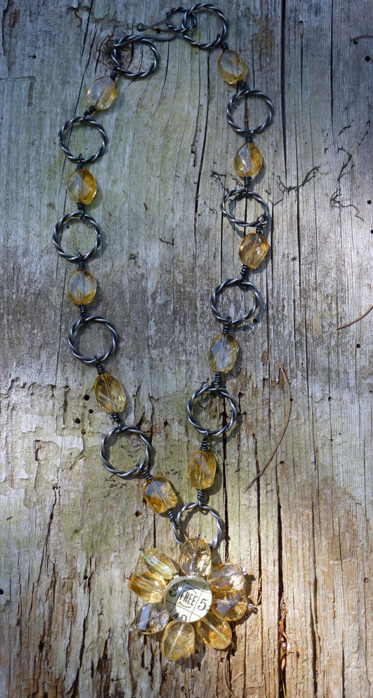 Citrine-Flower-Necklace by Cindy Dean