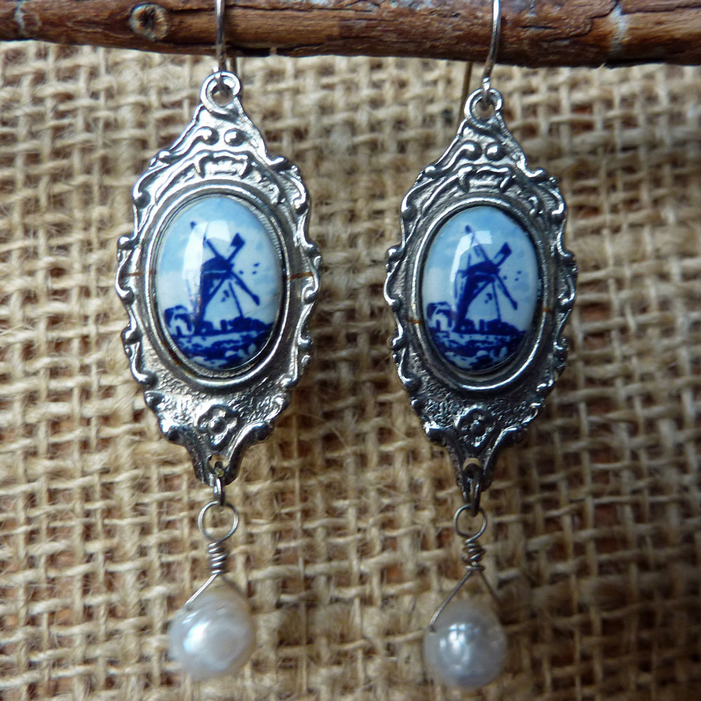 Dutch-Spoon-Earrings by Cindy Dean