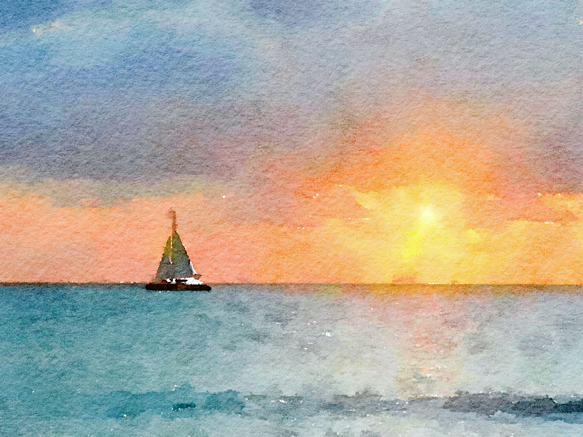 Sailing-into-the-Sun By Cindy Dean